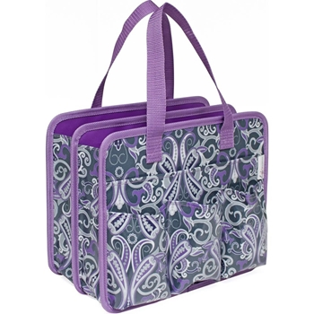 Everything Mary Makers GRAY AND PURPLE PAISLEY Carry All Tote EVM104873