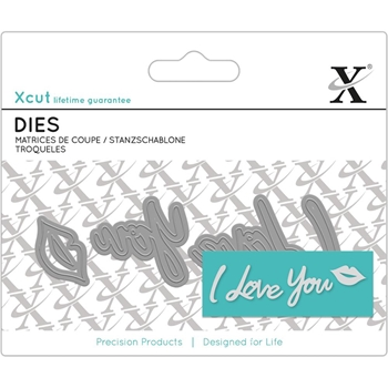 DoCrafts I LOVE YOU SENTIMENT XCut Dies Set 504051*