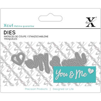DoCrafts YOU AND ME SENTIMENT XCut Dies Set 504055