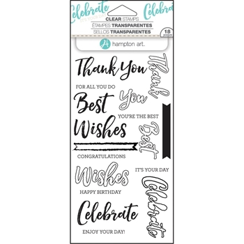 Hampton Art WORDS Layering Clear Stamps SC0752