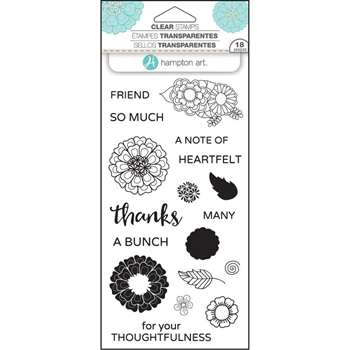 Hampton Art FLOWER THANKS Layering Clear Stamps SC0751