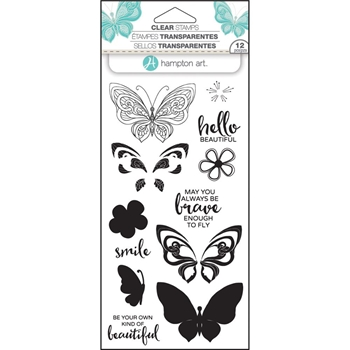 Hampton Art BUTTERFLY Layering Clear Stamps SC0750*