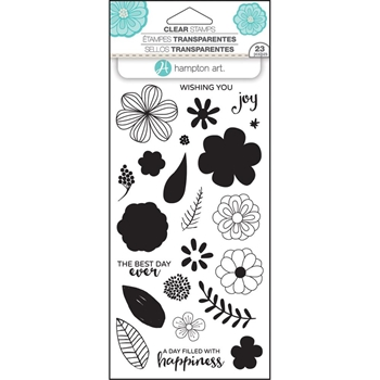 Hampton Art FLOWER JOY Layering Clear Stamps SC0749