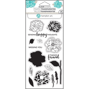 Hampton Art FLOWER HAPPY Layering Clear Stamps SC0748