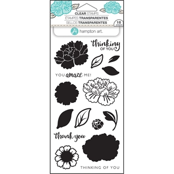 Hampton Art FLOWER AMAZE Layering Clear Stamps SC0747
