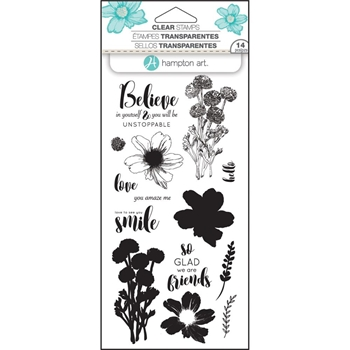 Hampton Art FLOWER BELIEVE Layering Clear Stamps SC0746