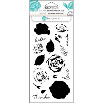 Hampton Art ROSES Layering Clear Stamps SC0754