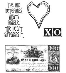 Tim Holtz Cling Rubber Stamps FROM THE HEART Love Stampers Anonymous