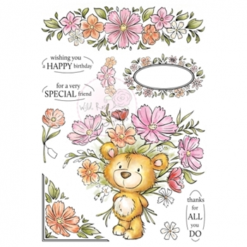 Wild Rose Studio MILTON Clear Stamp Set AS002