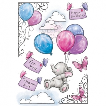 Wild Rose Studio BELLA Clear Stamp Set AS001