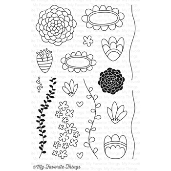 My Favorite Things DOODLE BLOSSOMS Clear Stamps CS159