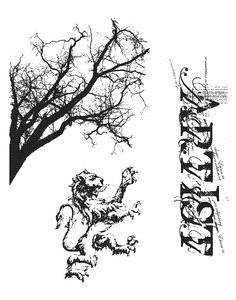 Tim Holtz Cling Rubber Stamps REGAL FINDINGS cms014 Stampers Anonymous zoom image