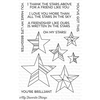 My Favorite Things STARS ABOVE Clear Stamps LJD63*