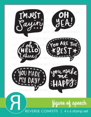 Reverse Confetti FIGURE OF SPEECH Clear Stamp Set  Preview Image