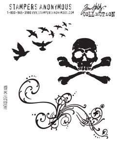 Tim Holtz Cling Rubber Stamps ANTHOLOGY Stampers Anonymous CMS026