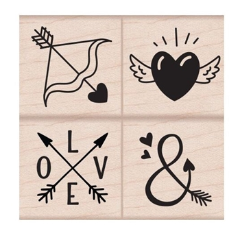 Hero Arts Rubber Stamps LOVE TATTOOS Set LP427