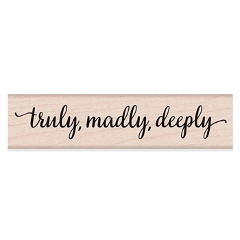 Hero Arts Rubber Stamps TRULY MADLY DEEPLY F6191
