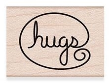 Hero Arts Rubber Stamp HUGS A6193