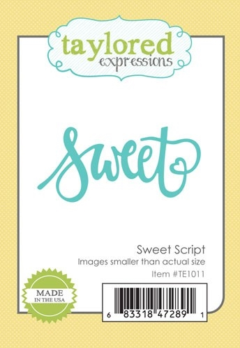 Taylored Expressions SWEET SCRIPT DIE Set TE1011 Preview Image