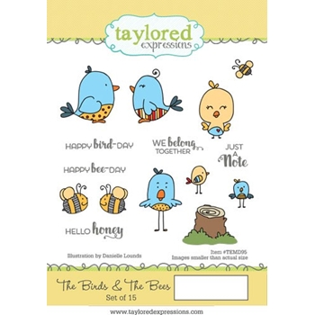 Taylored Expressions THE BIRDS AND THE BEES Cling Stamp Set TEMD95