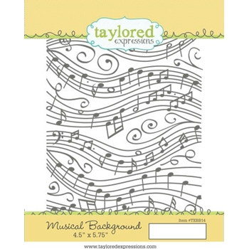 Taylored Expressions MUSICAL BACKGROUND Cling Stamp Set TEBB14