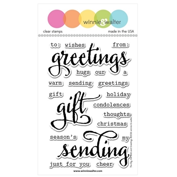 Winnie and Walter THE BIG THE BOLD AND GREETINGS Clear Stamps WW074