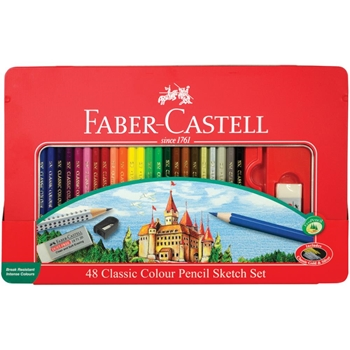 Faber-Castell CLASSIC COLOR PENCIL SKETCH 48 Tin Set 115888