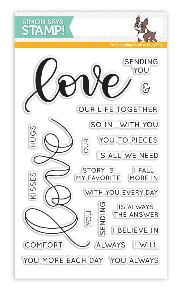 Simon Says Clear Stamps LOVE SSS101698 Hey Love zoom image