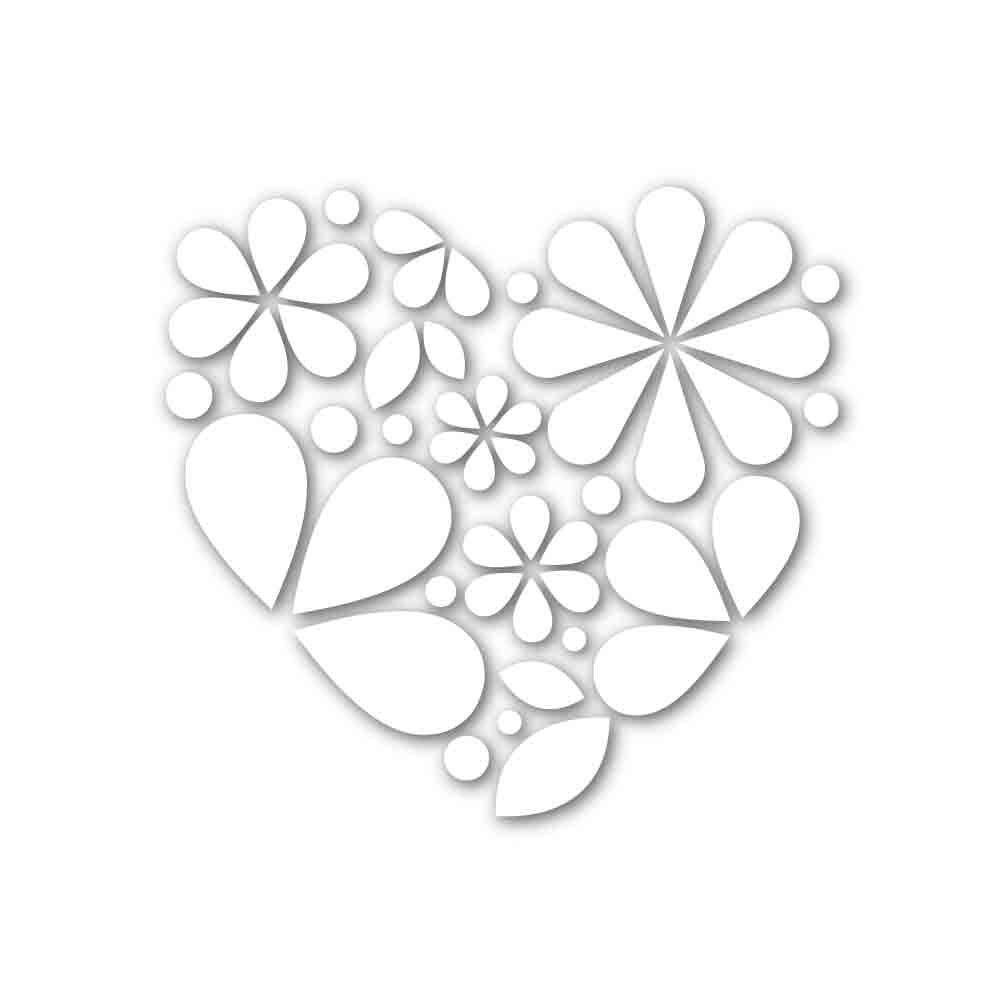 Simon Says Stamp HEART OF FLOWERS Wafer Die SSSD111660 Hey Love zoom image