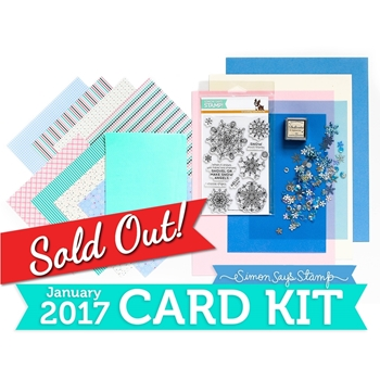 Simon Says Stamp Card Kit of The Month JANUARY 2017 SNOW MUCH THANKS ck0117