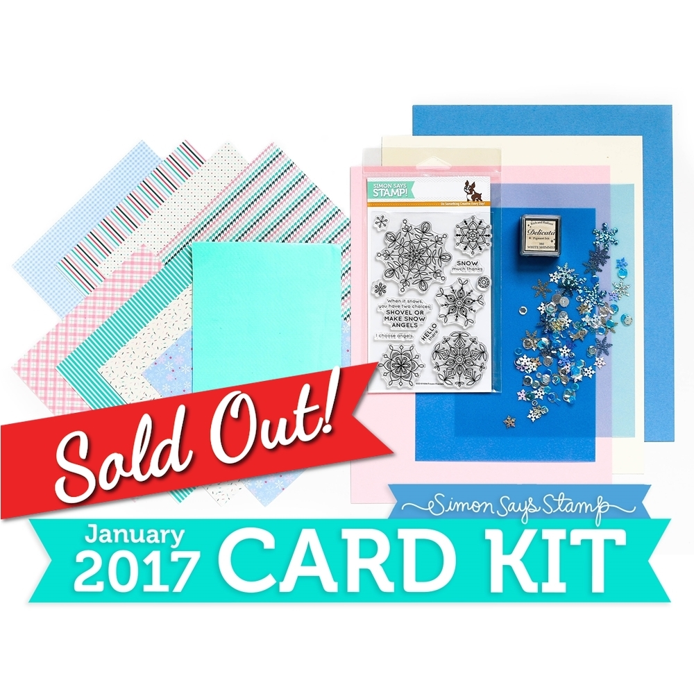 Simon Says Stamp Card Kit of The Month JANUARY 2017 SNOW MUCH THANKS ck0117 zoom image