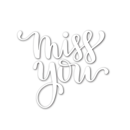 Simon Says Stamp MISS YOU Wafer Die SSSD111665 Hey Love Preview Image