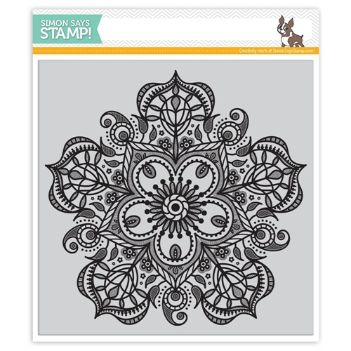 Simon Says Cling Rubber Stamp ELIZABETH BACKGROUND SSS101691 Hey Love Preview Image