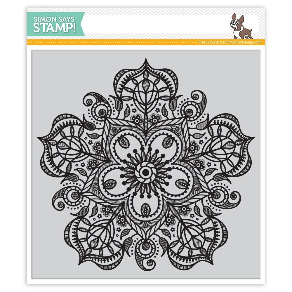 Simon Says Cling Rubber Stamp ELIZABETH BACKGROUND SSS101691 Hey Love zoom image