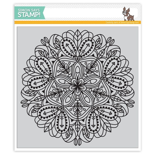 Simon Says Cling Rubber Stamp EMMA BACKGROUND SSS101692 Hey Love Preview Image