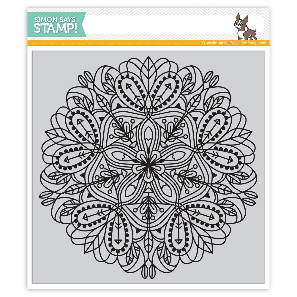 Simon Says Cling Rubber Stamp EMMA BACKGROUND SSS101692 Hey Love zoom image