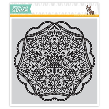 Simon Says Cling Rubber Stamp ELINOR BACKGROUND SSS101693 Hey Love *