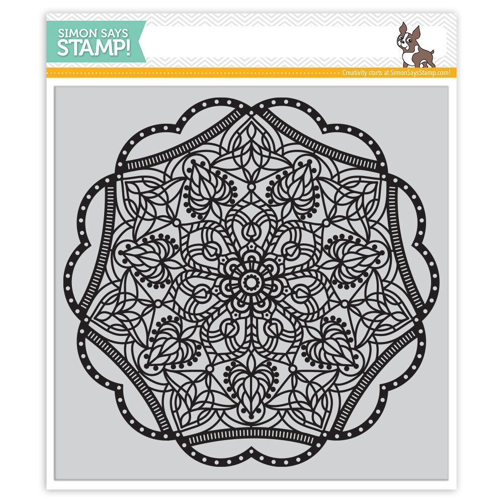 Simon Says Cling Rubber Stamp ELINOR BACKGROUND SSS101693 Hey Love zoom image
