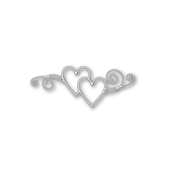 Simon Says Stamp HEARTS MINGLE Wafer Die S417 Hey Love *