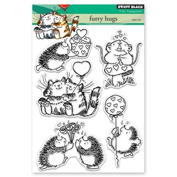 Penny Black Clear Stamps FURRY HUGS 30-402