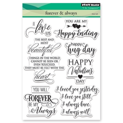 Penny Black Clear Stamps FOREVER AND ALWAYS 30-401 zoom image