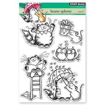 Penny Black Clear Stamps HEARTS APLENTY 30-400