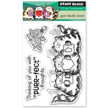 Penny Black Clear Stamps PURR-FECTLY SWEET 30-398