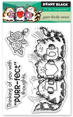 Penny Black Clear Stamps PURR-FECTLY SWEET 30-398 zoom image