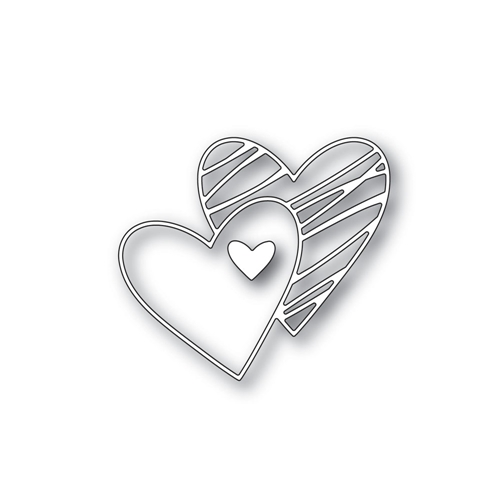 Simon Says Stamp SKETCHED HEARTS Wafer Die S421 Hey Love Preview Image
