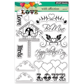 Penny Black Clear Stamps WITH AFFECTION 30-392