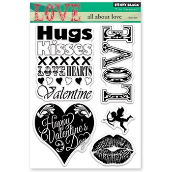 Penny Black Clear Stamps ALL ABOUT LOVE 30-391