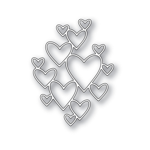 Simon Says Stamp CLIPPING HEART Wafer Die S422 Hey Love Preview Image