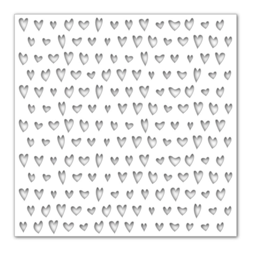 Simon's Exclusive Drawn Hearts Stencil