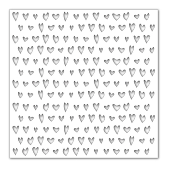 Simon Says Stencils DRAWN HEARTS SSST121389 Hey Love